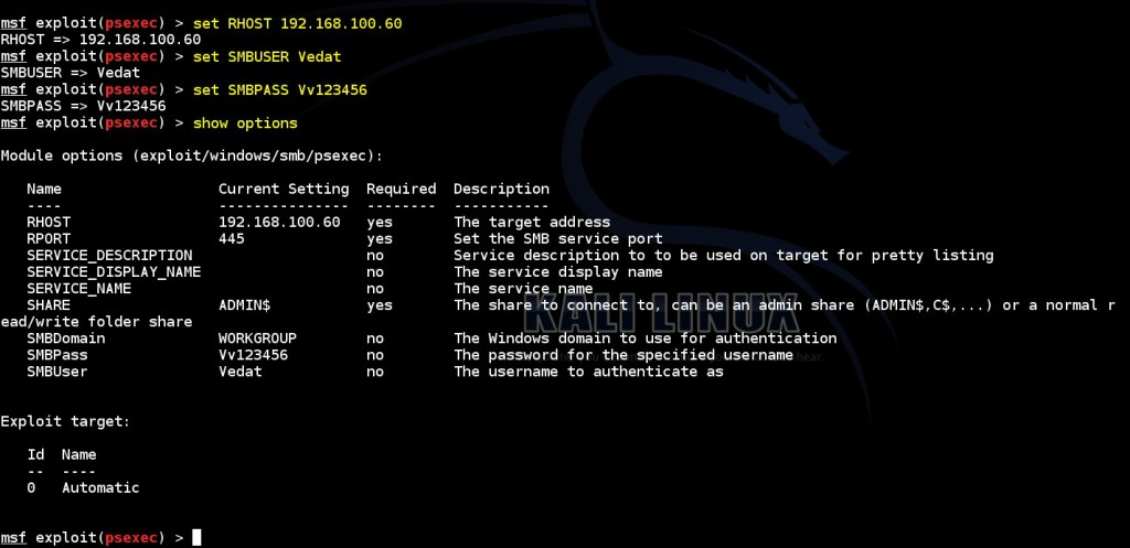 obtaining-meterpreter-session-by-using obtained-authentication-informations-via-msf-psexec-module-02