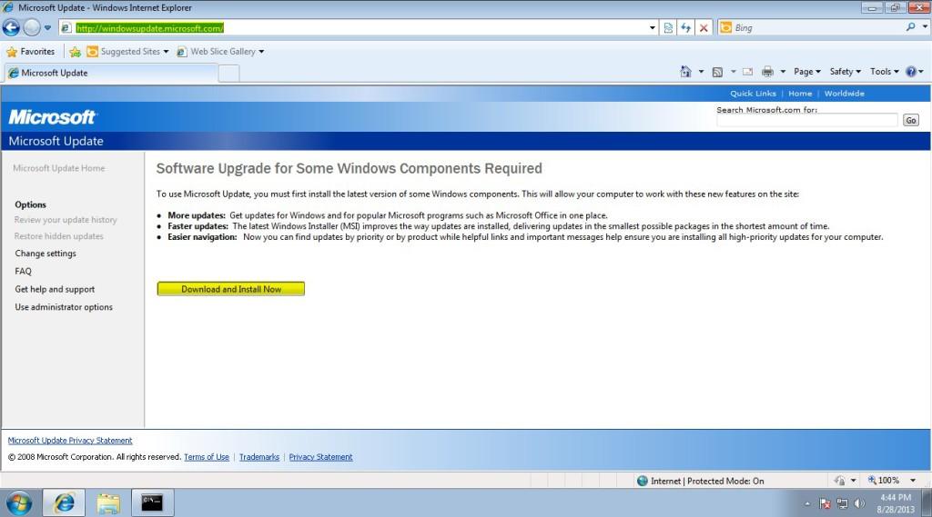 obtaining-meterpreter-session-on-windows-machine-by exploiting-windows-update-via-evilgrade-and-ettercap-22