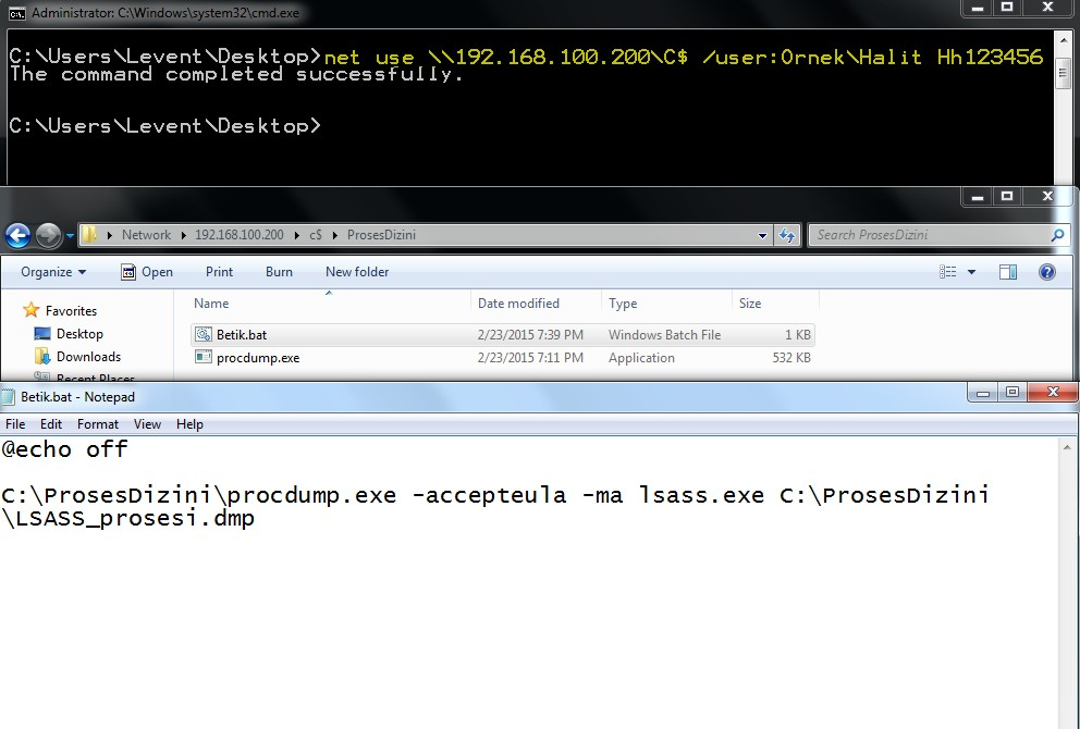 obtaining-clear-text-password-from-lsass-dump-file-that-is-stolen-from-network-drive-mapping-using-mimikatz-tool-01