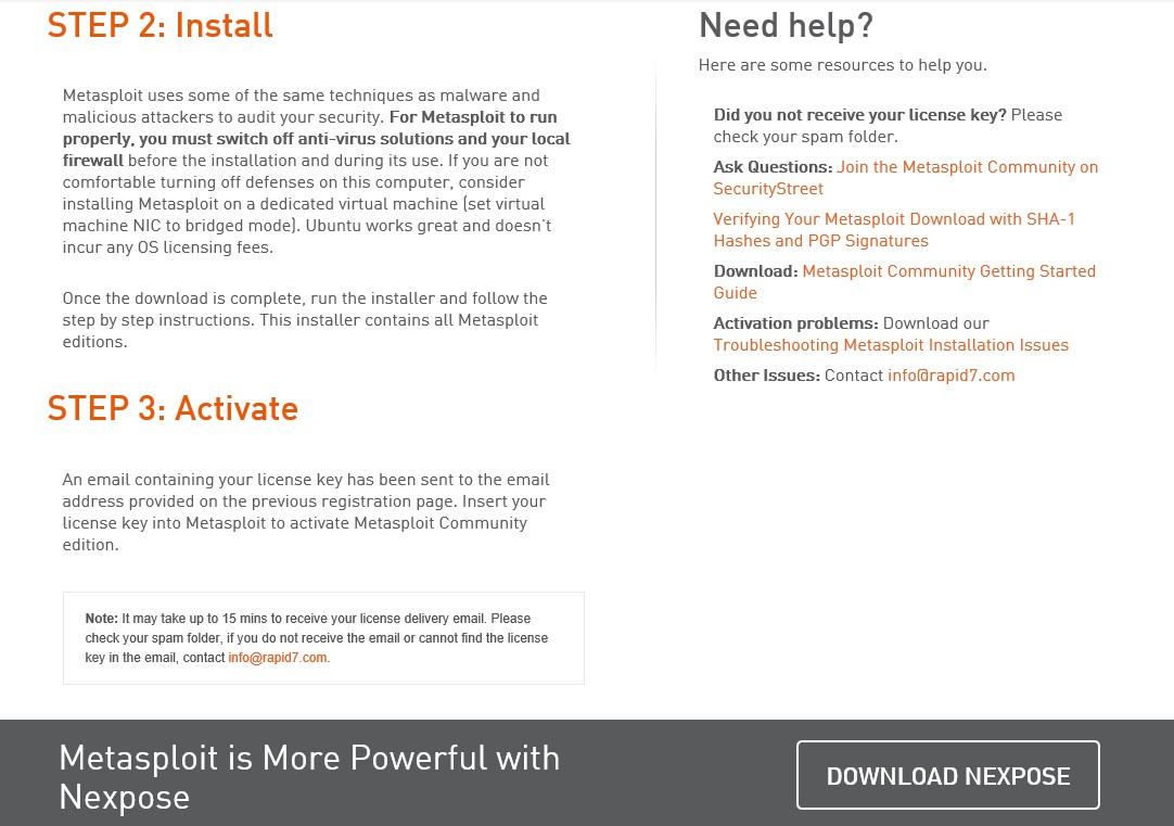 Windows 8 İşletim Sistemine Metasploit Framework Yazılımının