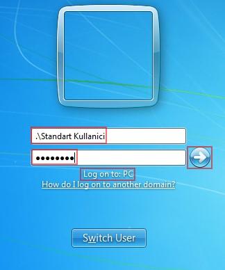 Şekil - 19: Standart Kullanıcı ile Oturum Açılması