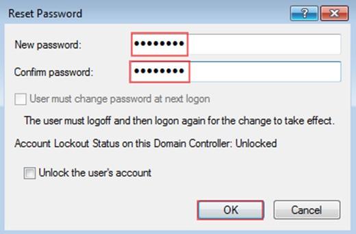 Şekil - 20: Yetki Verilmeyen OU İçerisinde Kullanıcı Parolası Sıfırlama - 2