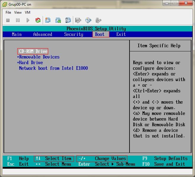 Şekil - 8: BIOS Ayarlarının Gerçekleştirilmesi- 1