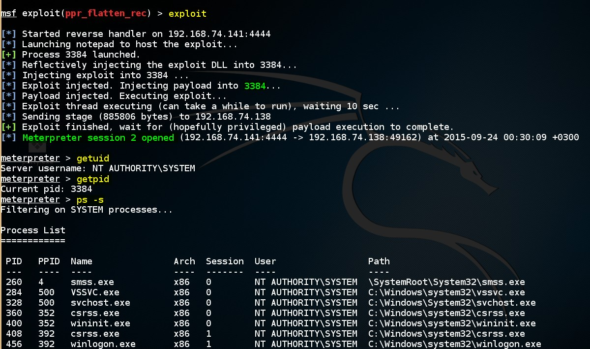 escalating-privileges-on-windows-by-using-msf-ppr-flatten-rec-exploit-module-04