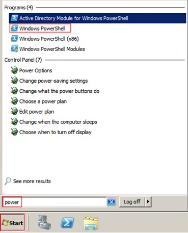 Şekil - 02: PowerShell Komut Satırının Açılması