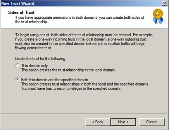 Şekil - 21: Trust İlişkisine Ait Ayarlamalar