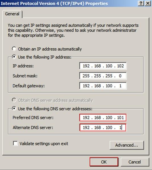 Şekil - 18: Statik DNS Atama İşlemi