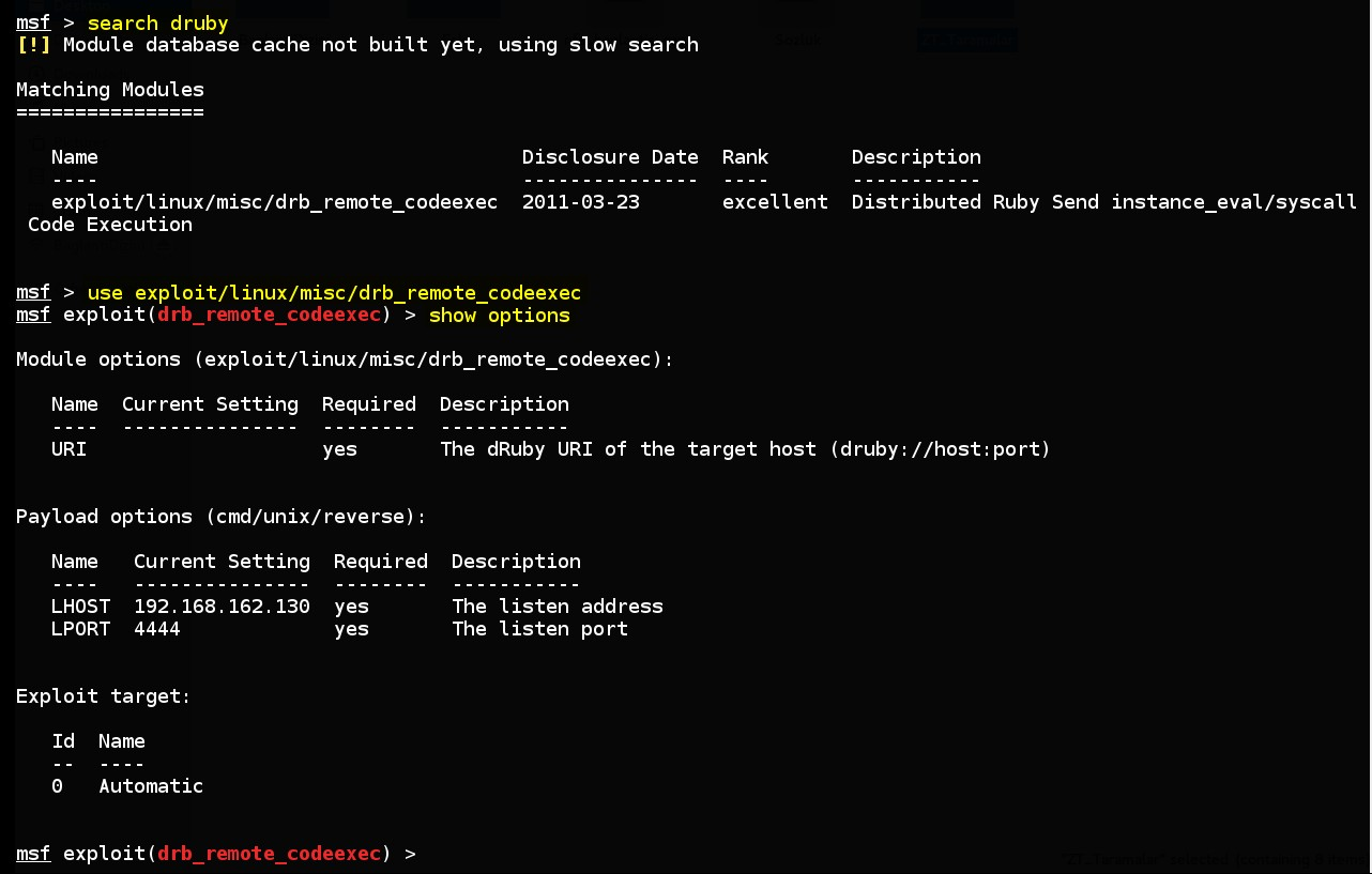 acquiring-command-line-on-linux-by-using-msf-drb-remote-codeexec-exploit-module-02