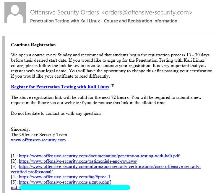 OSCP Sertifikasyon Yolculuğu - 2: PWK Eğitimine Kayıt